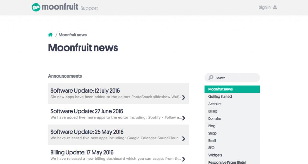Moonfruit Integrated Website into Zendesk Help Center