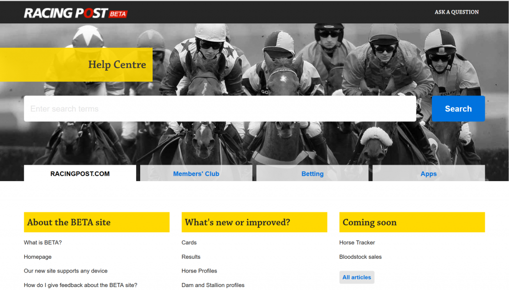 Great use of tabbed navigation in a Help Center.