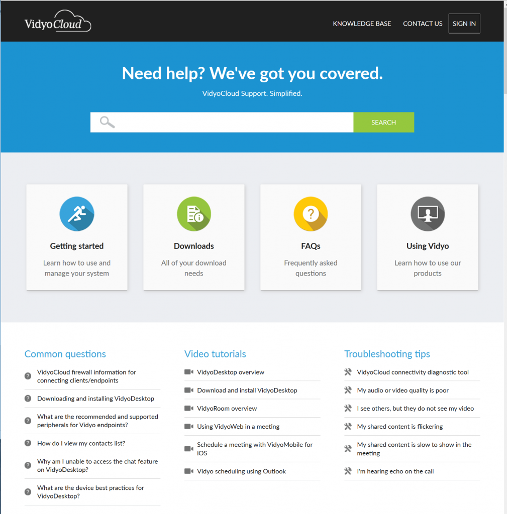 vidyo well mapped help center