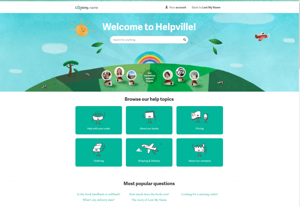 lostmyname happy zendesk design